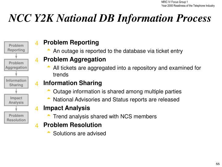 NCC Y2K National DB Information Process