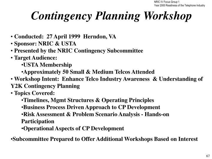 Contingency Planning Workshop