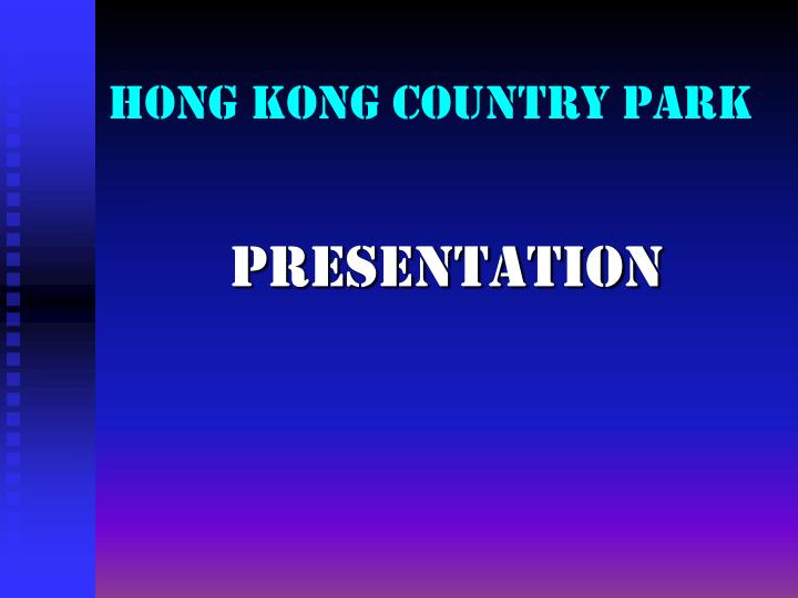 Hong kong country park