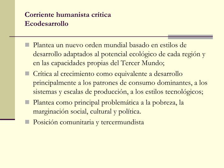 Corriente humanista crítica