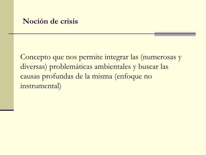Noción de crisis