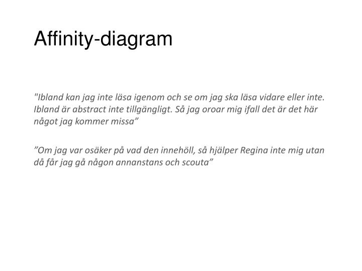 Affinity-diagram