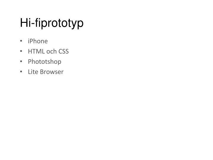 Hi-fiprototyp