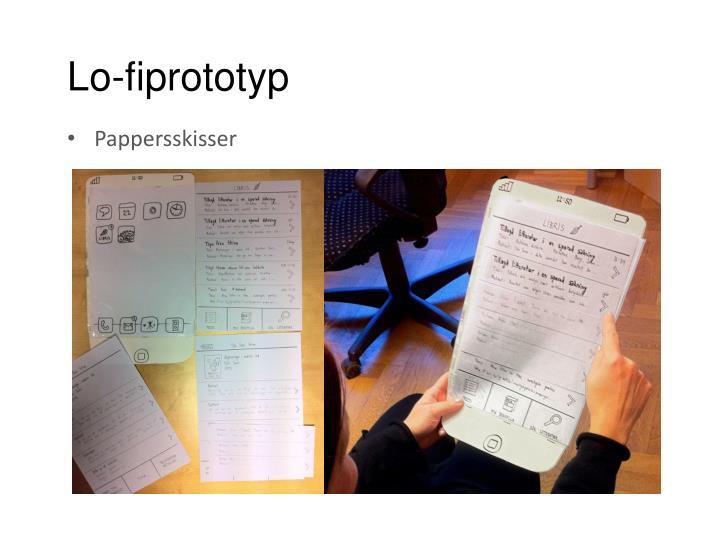 Lo-fiprototyp