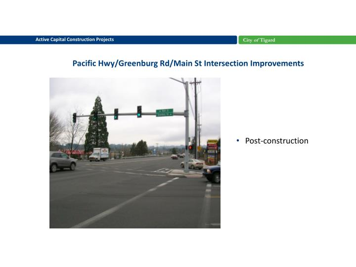 Pacific Hwy/Greenburg Rd/Main St Intersection Improvements