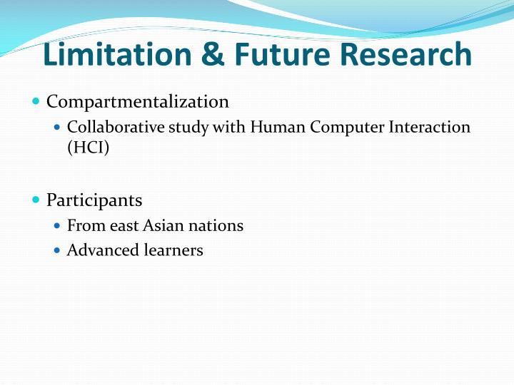 Limitation & Future Research