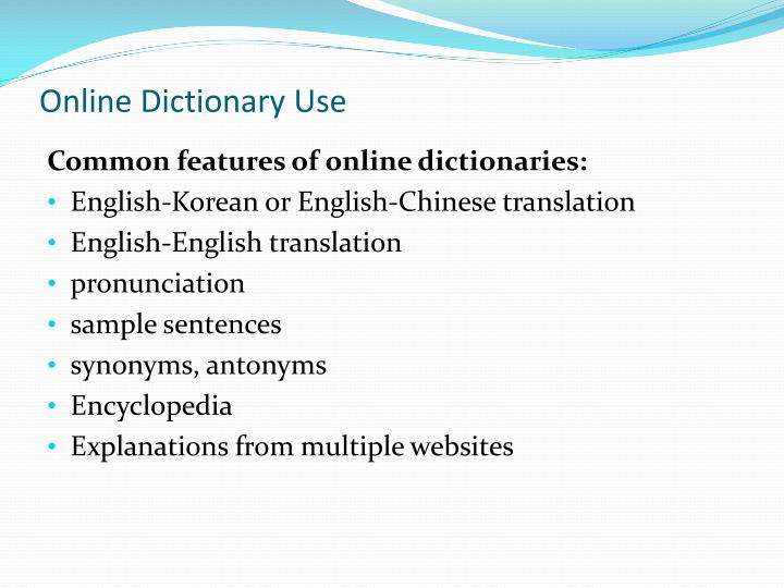 Online Dictionary Use