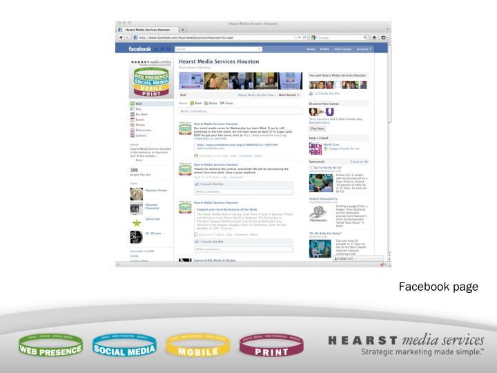 Facebook page