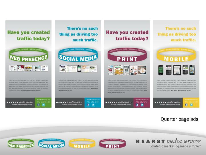 Quarter page ads