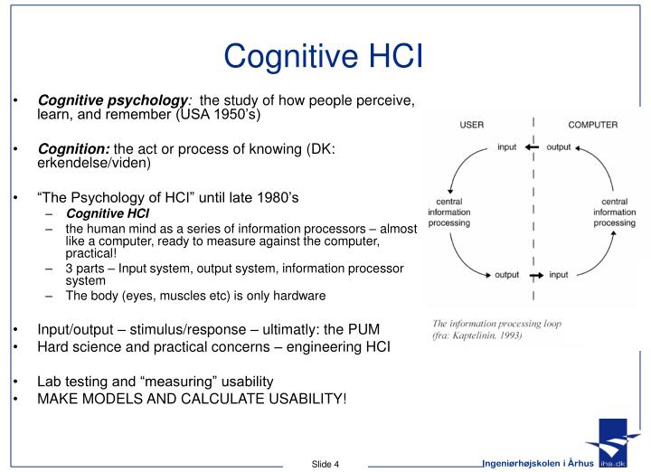 Cognitive HCI