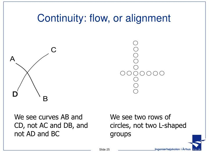 Continuity: flow, or alignment