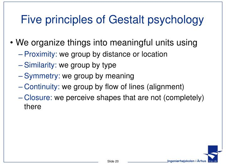 Five principles of Gestalt psychology