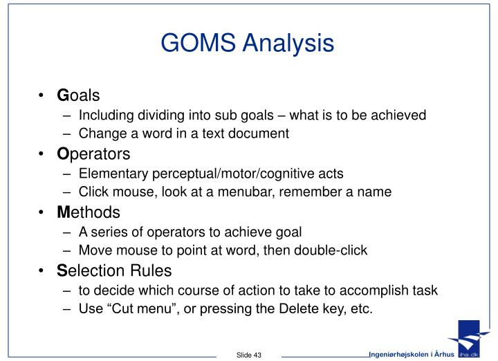 GOMS Analysis