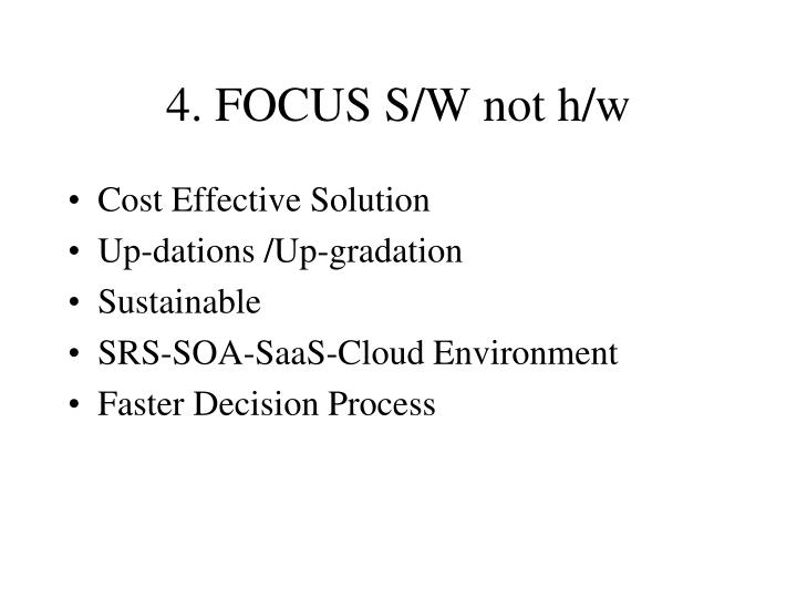 4. FOCUS S/W not h/w