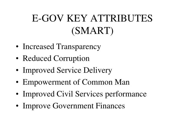 E-GOV KEY ATTRIBUTES
