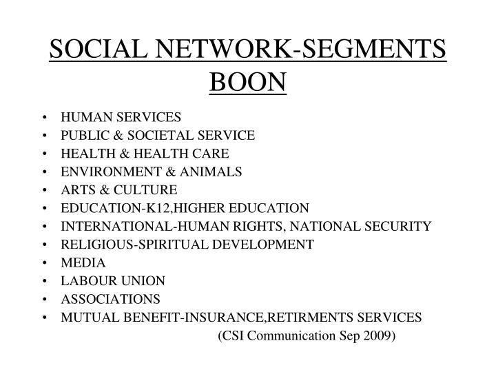 SOCIAL NETWORK-SEGMENTS