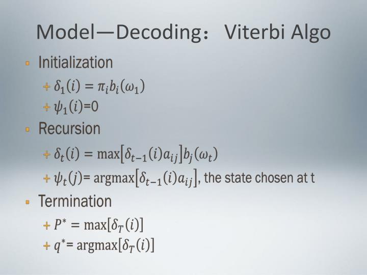 Model—Decoding