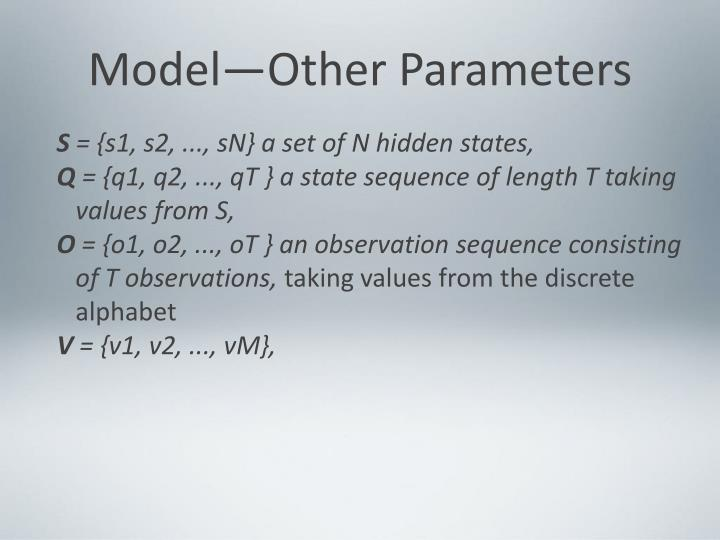 Model—Other Parameters