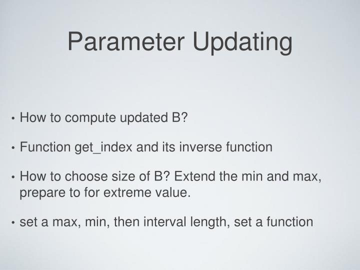 Parameter Updating