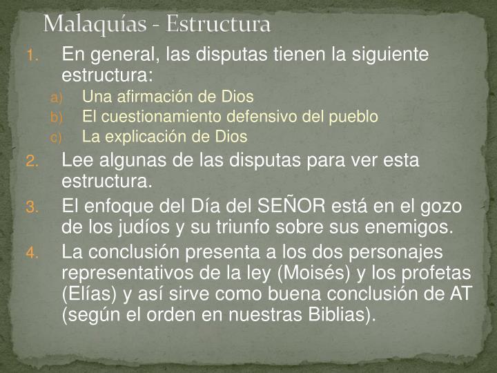 Malaquías - Estructura