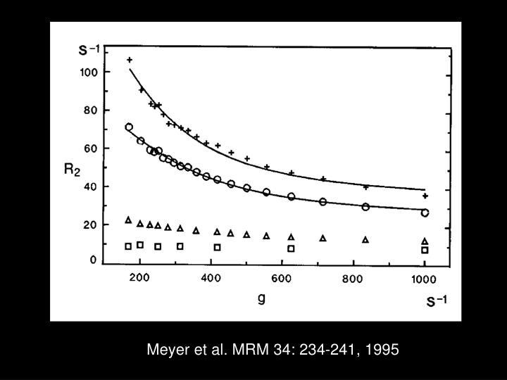 Meyer et al. MRM 34: 234-241, 1995