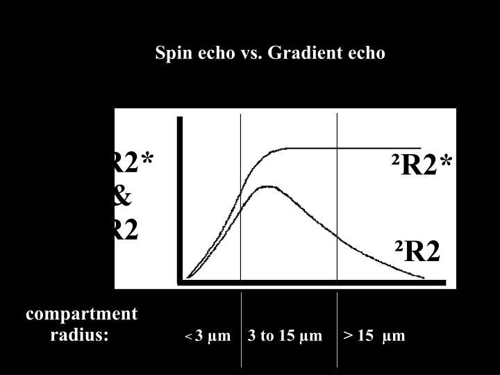 Spin echo vs. Gradient echo