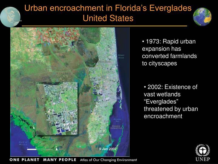 Urban encroachment in Florida's Everglades