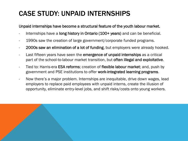 Case Study: Unpaid Internships