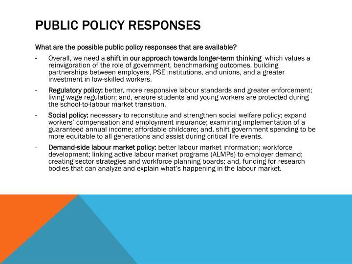 Public Policy Responses