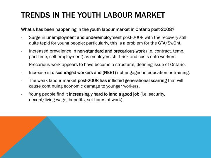 Trends in the Youth Labour Market