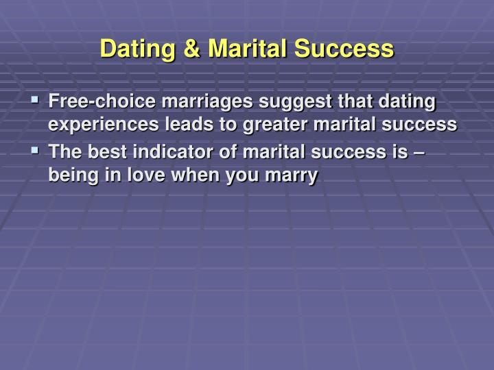 Dating & Marital Success