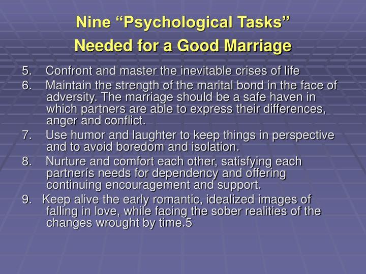 """Nine """"Psychological Tasks"""""""