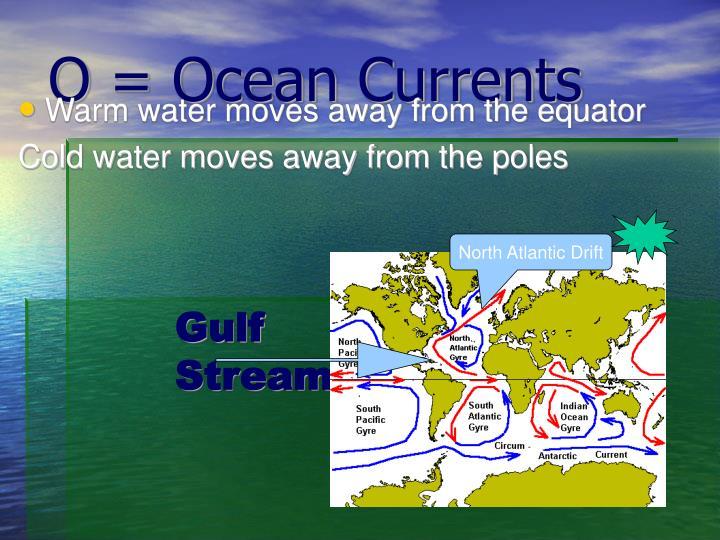 O = Ocean Currents