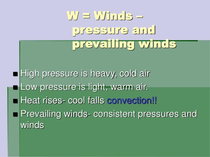 High pressure is heavy, cold air