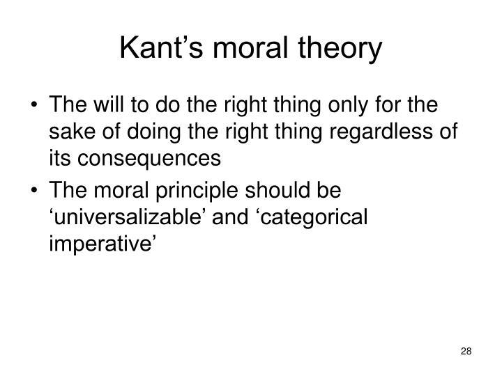 Kant's moral theory