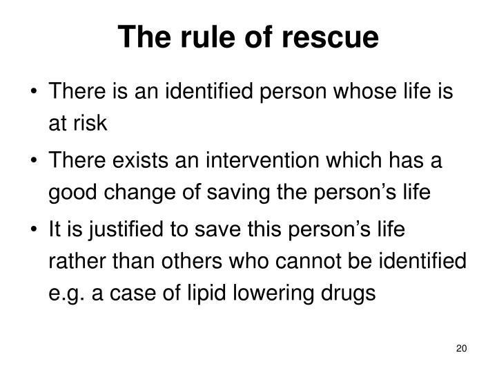 The rule of rescue