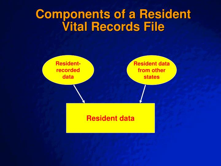 Components of a Resident Vital Records File