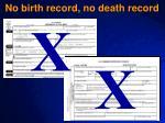 no birth record no death record