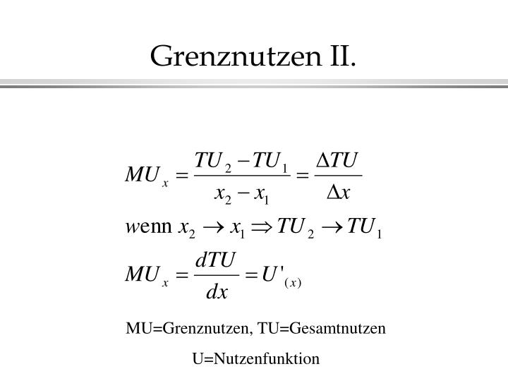 Grenznutzen II.