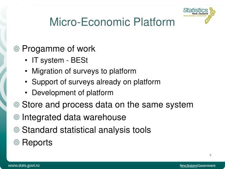 Micro-Economic Platform