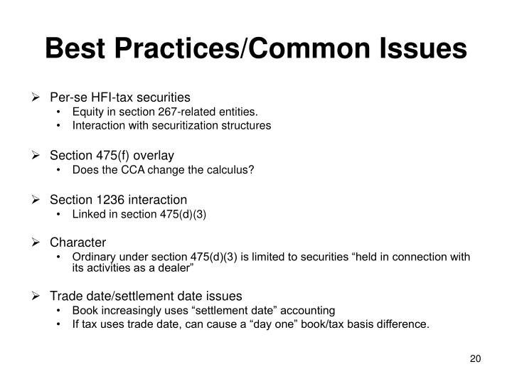 Best Practices/Common Issues