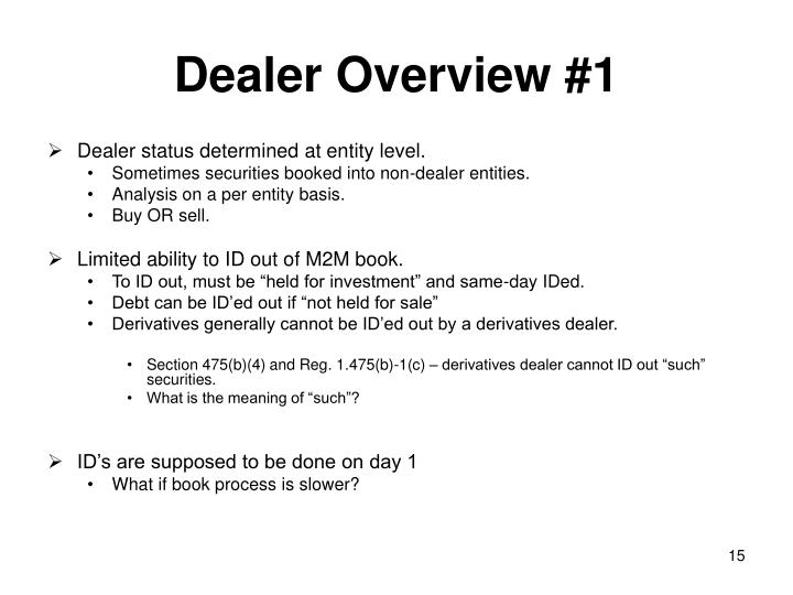 Dealer Overview #1