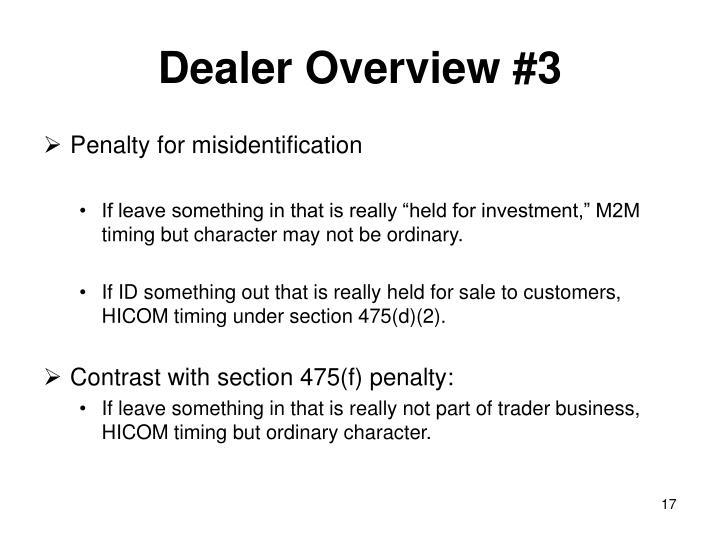 Dealer Overview #3