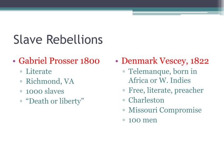 essays on slave revolts Find and download essays and research papers on slave revolts.