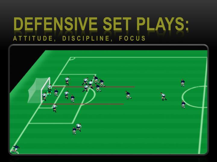 Defensive Set Plays: