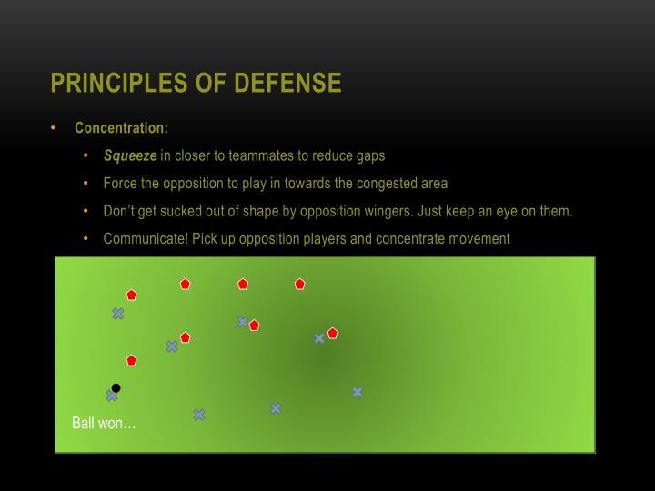 Principles of Defense