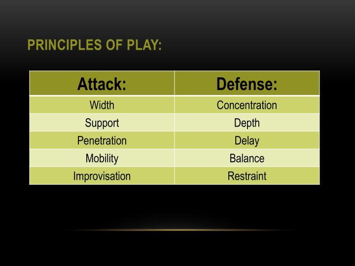 Principles of Play: