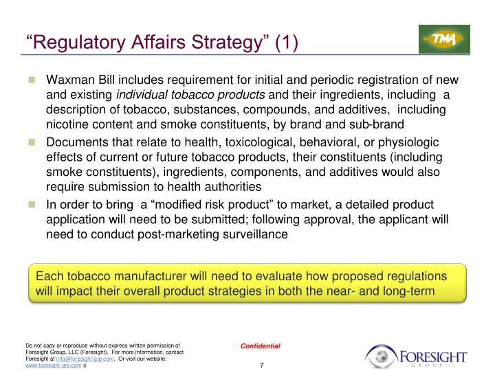 """Regulatory Affairs Strategy"" (1)"