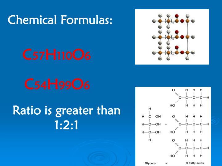 Chemical Formulas: