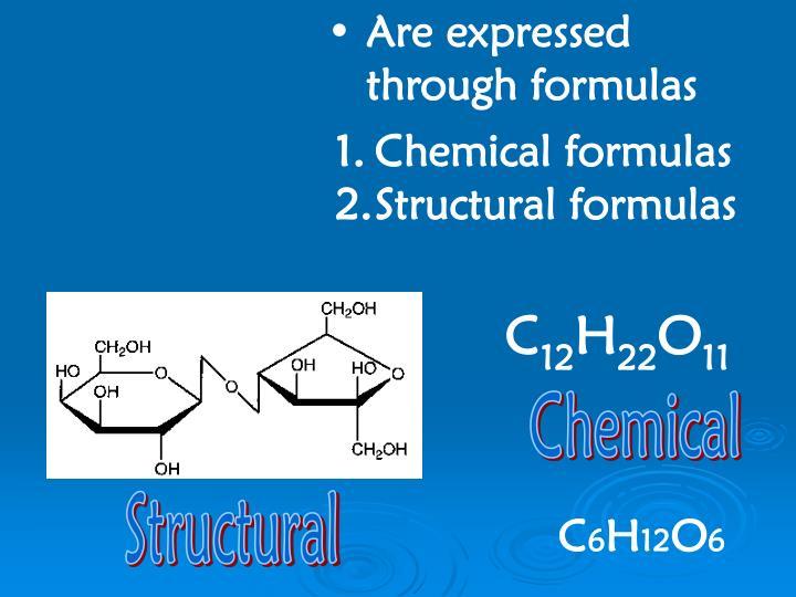Are expressed through formulas